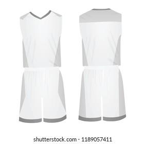 White basketball uniform. vector illustration