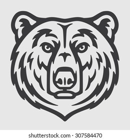 White Bear Head Logo Mascot Emblem