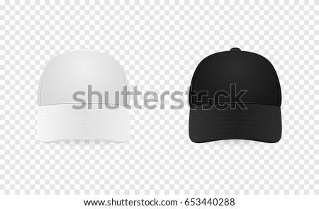 white black baseball cap icon set のベクター画像素材 ロイヤリティ