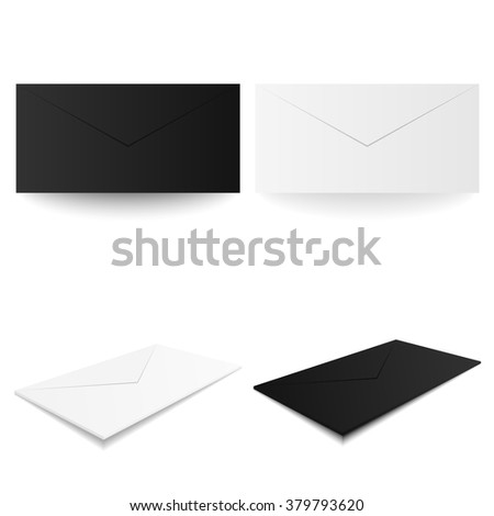 white black envelopes envelope blank envelope stock vector royalty