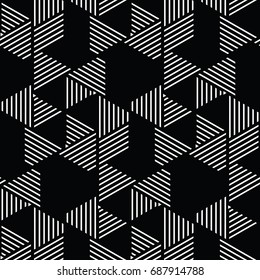 white and black geometric pattern abstract vector background. Modern stylish texture.