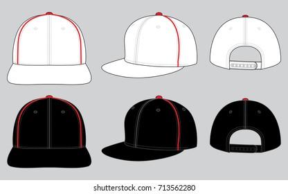 White & Black hip hop cap design