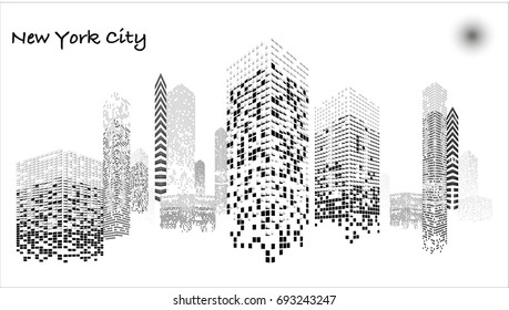 White and Black illuminated Building under construction, skyscrapers and flat, light, stage, home, house