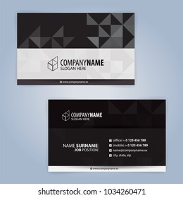 White and Black modern business card template, Illustration Vector 10