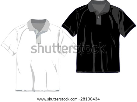 White Black Polo Tshirt Design Template Stock Vector Royalty Free