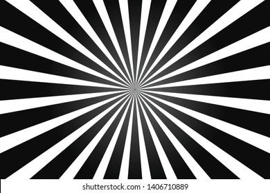 White and black ray burst style background