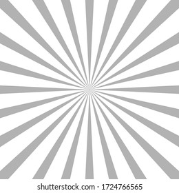 White and black ray burst style background vector design