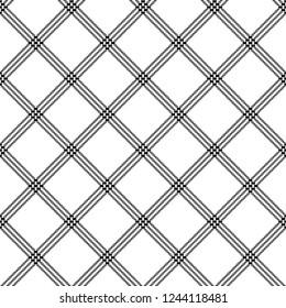 White black striped pixel seamless pattern. Vector illustration.