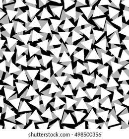 white black triangles seamless pattern