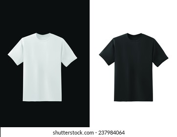 White and black t-shirt template collection, vector eps10 illustration