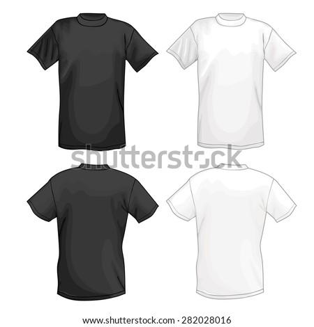 White Black Vector Tshirt Design Template Stock Vector Royalty Free