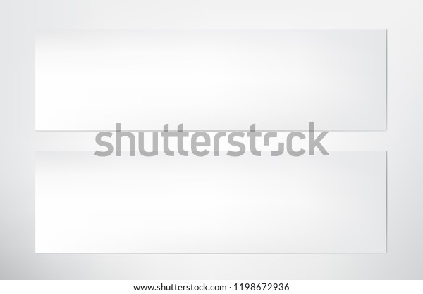 White Blank Banners Templatedesign Web Banner Stock Vector (Royalty