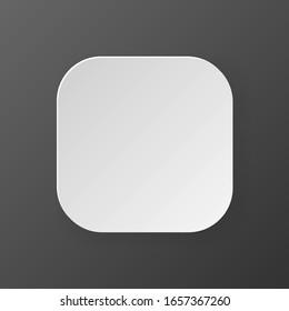 White blank button on dark background