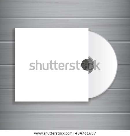white blank cd dvd cover template stock vector royalty free