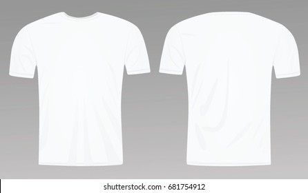 White blank classic t shirt template. vector illustration