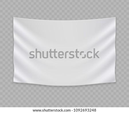 white blank flag banner template stock vector royalty free