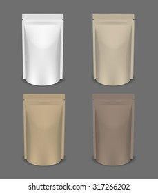White Blank Foil Packaging for food