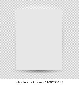 White blank model template top view with shadow isolated on transparent background. Vector Illustration EPS10