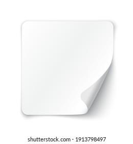 White blank paper. Vector illustration.
