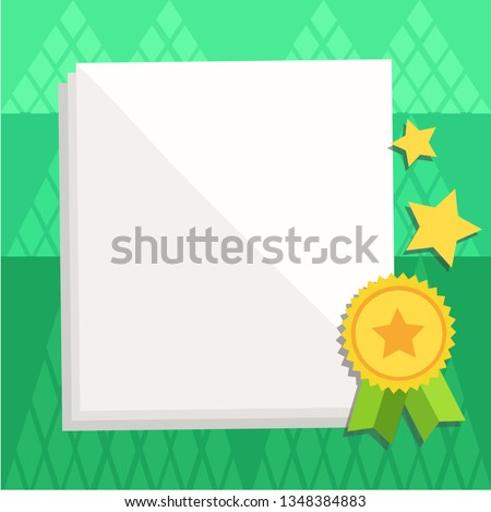image relating to Parchment Paper Printable named White Blank Sheets Parchment Paper Stationery Inventory Vector
