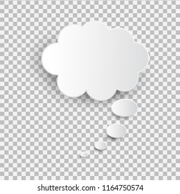 White blank speech bubble isolated vector. Infographic design thought bubble on the transparent background. Eps 10 vector file.