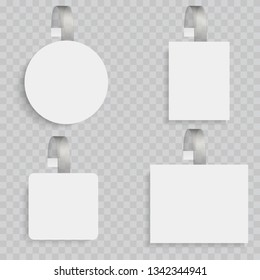 White blank wobblers. 3d sale discount plastic tags vector