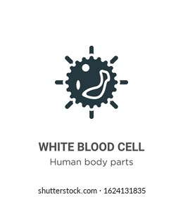White blood cell glyph icon vector on white background. Flat vector white blood cell icon symbol sign from modern human body parts collection for mobile concept and web apps design.