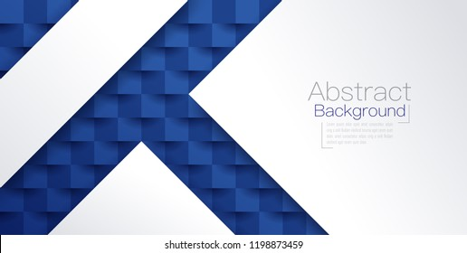 White and blue abstract texture. Vector background 3d paper art style can be used in cover design, book design, poster, cd cover, website backgrounds or advertising.