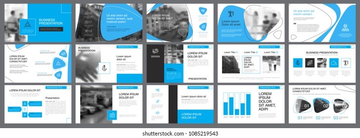White, blue and black infographic elements for presentation slide templates. Business and economics concept can be used for financial report, advertising, workflow layout and brochure design.