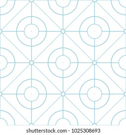 White and blue geometric print. Seamless pattern for web, textile and wallpapers