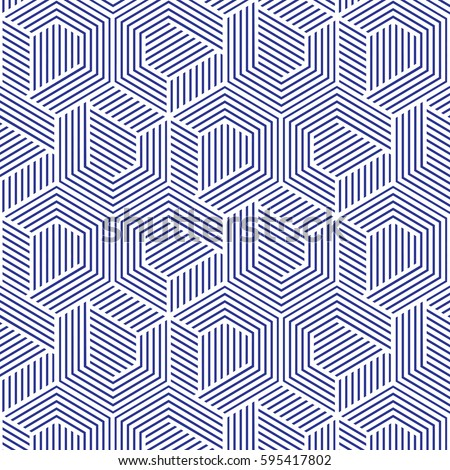 White And Blue Patternbackground Line Geometricmodern Stylish Texturevector
