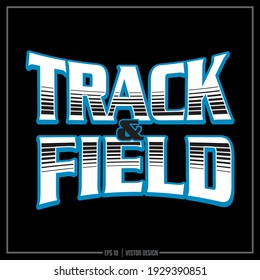White and Blue Sports insignia, Team logo, Sports Design, Track and Field