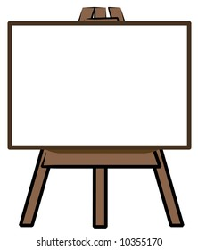white board standing on easel - add your own words - vector