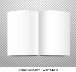 White book on transparent background