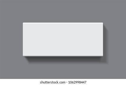 white box on a dark background top view