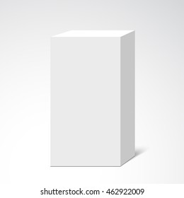White box. Package. Vector illustration.