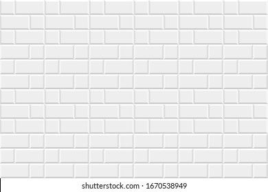White brick wall background. Abstract geometric seamless pattern design. Vector illustration. Eps10