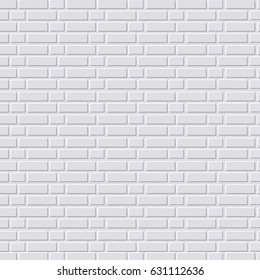 White brick wall background. Vector