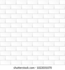White brick wall. Seamless pattern