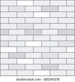 White brick wall. Seamless texture