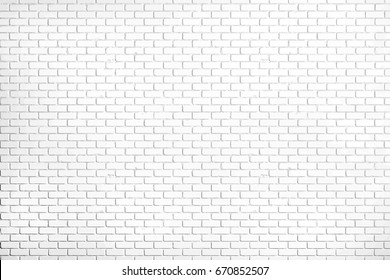 White brick wall texture background, vector