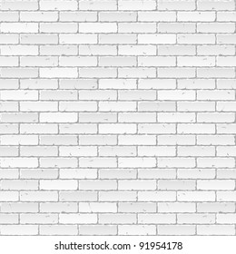 White brick wall. Vector.