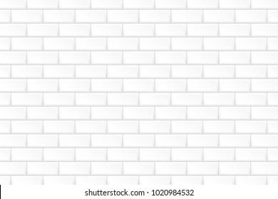 White brick wall. Vector illustration