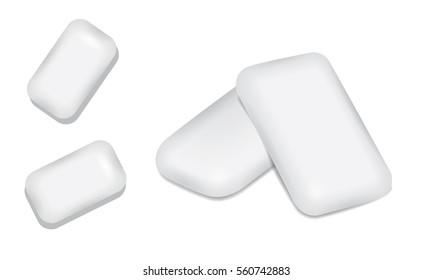 White bubble gum