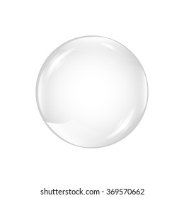 White bubble. Shiny bubble. vector illustration of bubble. glossy ball on white background
