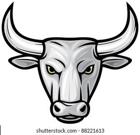 white bull head