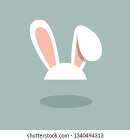 White bunny ear band icon, for Easter
