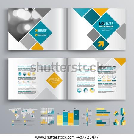 white business brochure template design blue のベクター画像素材