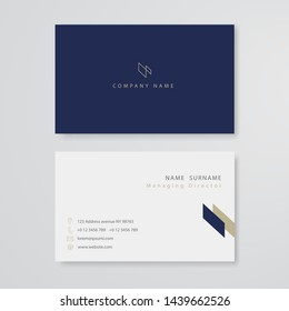 white business card flat design template vector