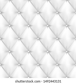 White buttoned leather upholstery background - eps10 vector